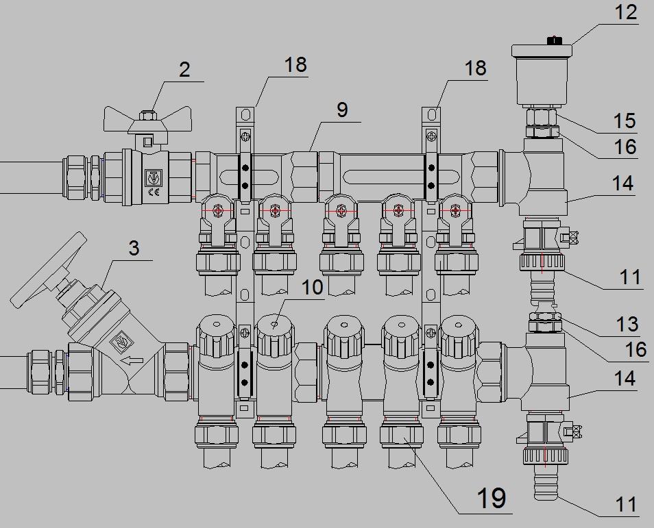 Схема отопления помещений